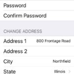 The Lock Up Self Storage App Change Information Screen