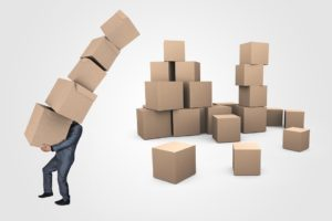 Be sure to declutter your moving boxes when organizing new home