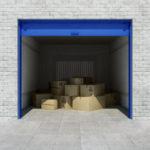interior of generic self storage unit