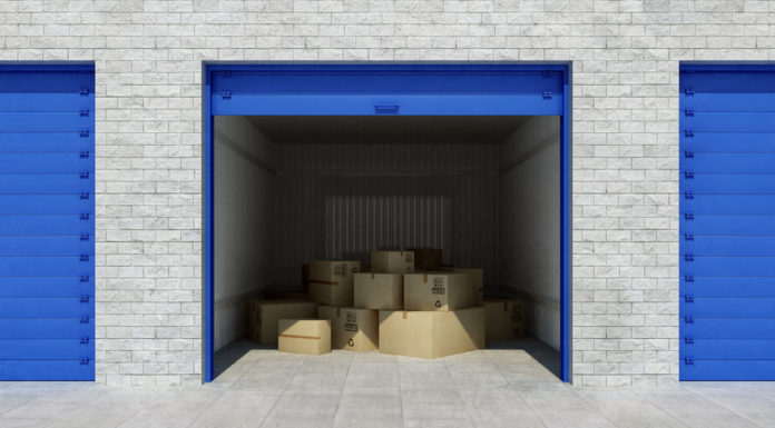 interior of generic self storage unit