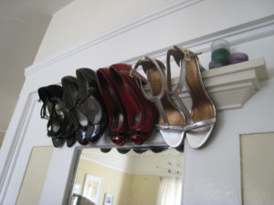 Use crown molding to organize high heels