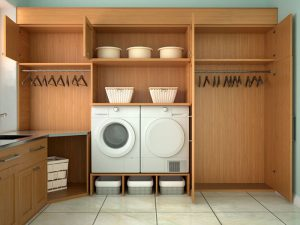 Revamp Laundry Room with Storage Shelves